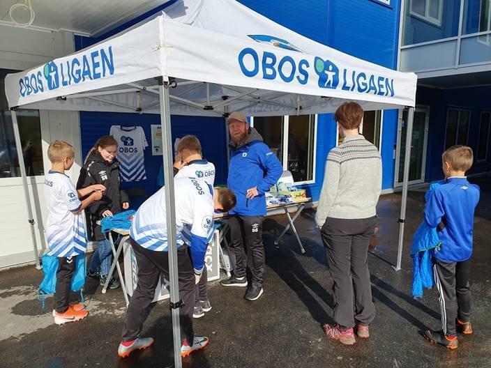 «Løva» på plass ved Post 10 - OBOS teltet!